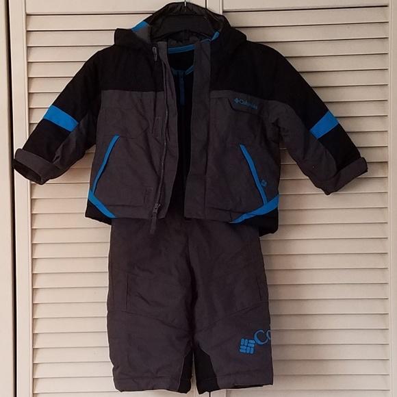 2659883fe Columbia Jackets & Coats | Wintersnow Suit 2 Piece Blue Blackgray ...